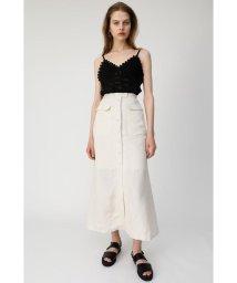 moussy/FRONT BUTTON LINEN BLEND スカート/502344965