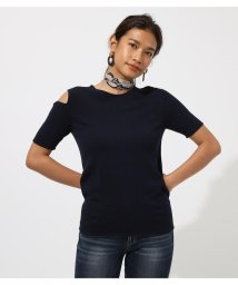 AZUL by moussy/OPEN SHOULDER KNIT TOP/502390579