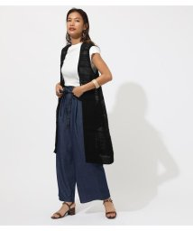 AZUL by moussy/SHADOW BORDER KNIT VEST/502390595