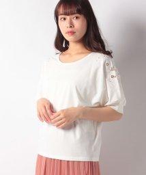 Afternoon Tea LIVING/シルケット加工袖刺繍プルオーバー/502367846
