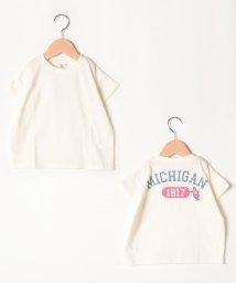 LAGOM/カレッジロゴバックプリントTシャツ/502376935