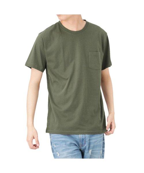 MAC HOUSE(men)(マックハウス(メンズ))/Navy オーガニックコットン クルーネックTシャツ MH/03489SS/01222005924
