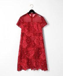 GRACE CONTINENTAL/チュール刺繍フレアワンピース/502392260