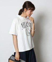 SCOTCLUB/GRANDTABLE(グランターブル) フリルネックロゴTシャツ/502384180