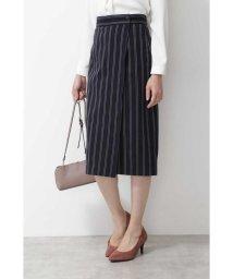 NATURAL BEAUTY BASIC/[洗える]レジメンタルストライプスカート◆/502393383