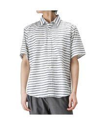 MAC HOUSE(men)/Real Standard リップル素材 半袖シャツ 591195C/502393915