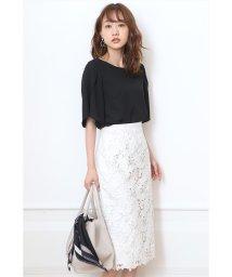 JUSGLITTY/刺繍レースタイトスカート/502394207