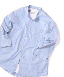 SHIPS JET BLUE/SHIPS JET BLUE: バンドカラー 7分袖シャツ/502394467