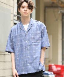 JUNRed/フェイントチェックリラックスシャツ/502394622