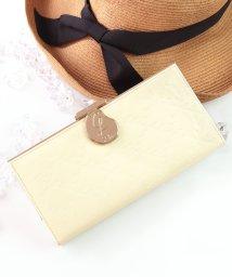 Clelia/長財布 レディース がま口 大容量 ブランド エナメル フラップ がま口長財布/501510986
