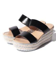 Shoes in Closet/刺繍入りジュート素材のダブルベルト厚底サンダル/502382590