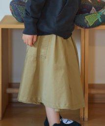 coen/【WEB限定色⇒オリーブ・coen キッズ / ジュニア】バックツイルベイカースカート(ロングスカート)/502397515