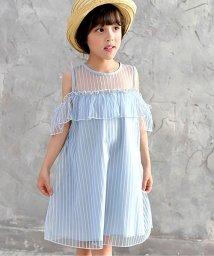 子供服Bee/シースルーオフショルワンピ/502397563