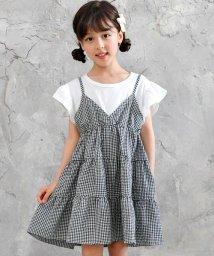 子供服Bee/白T×ギンガムティアードワンピ/502397565
