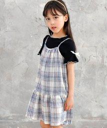 子供服Bee/チェックキャミワンピ/502397567