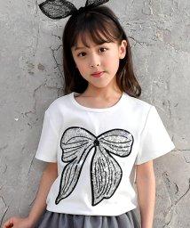 子供服Bee/スパンコールリボンTシャツ/502397577