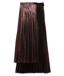 Lily Brown/ジャガードプリーツラップスカート/502397600