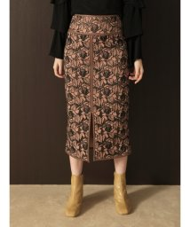 Lily Brown/フラワー刺繍タイトロングスカート/502397613