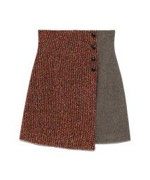 Lily Brown/ツイードチェック台形スカート/502397637