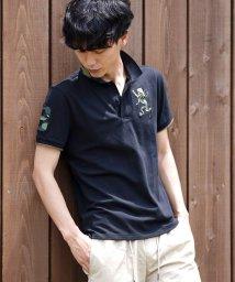 GIORDANOM/[GIORDANO]3Dライオン刺繍ミリタリーポロシャツ/501561600