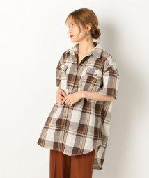 archives/半袖チェックチュニックBIGシャツ/502326923