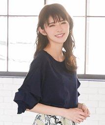 KOBE LETTUCE/袖タックボリュームカットソートップス/502375059