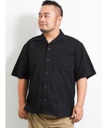 GRAND-BACK/【大きいサイズ】グランバック/GRAND-BACK サッカー無地オープンカラー半袖シャツ/502397875