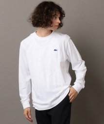 SHIPS JET BLUE/《made in Japan》LACOSTE×SHIPS JET BLUE: 別注 カノコ 袖リブ ロングスリーブ Tシャツ/502402521