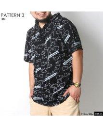 MARUKAWA/大きいサイズ クジラ柄 半袖Tシャツパーカー/502387583
