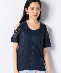 Desigual/クロシェレース付き半袖Tシャツ/502387689