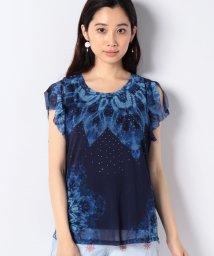 Desigual/スタッズ付き半袖Tシャツ/502387691