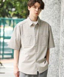 JUNRed/【リラックスシルエット】スピンドルチェックシャツ/502401871