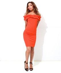 ANAP USA/フリルオフショルダータイトドレス/502403057
