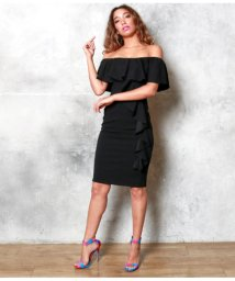 ANAP USA/フリルショルダータイトドレス/502403058