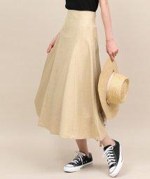 ROPE' mademoiselle/【手洗い可能】リネンライクパネルフレアスカート/502405099