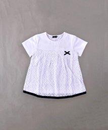 BeBe/天竺レース切り替えTシャツ/502349926