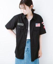 haco!/Dickies TCツイルワッペン付きルーズフィット半袖ワークシャツ/502382585