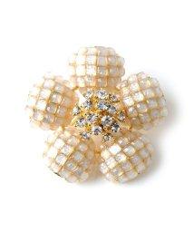 cream dot/シックな装いもパッと大人華やか、フラワーピン/ブローチ/502385871