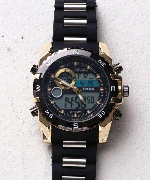 SP(エスピー)/【HPFS】アナデジ アナログ&デジタル腕時計 HPFS615 メンズ腕時計 デジアナ/WTHPFS615