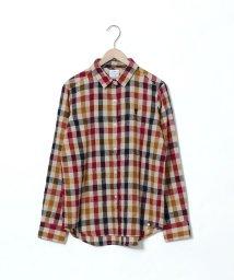 coen/ウィンターリネンチェックシャツ/502408484
