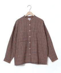 coen/ウィンターリネンバンドカラーシャツ/502408485