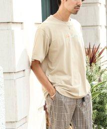 coen/フロントカラー刺繍Tシャツ/502409273