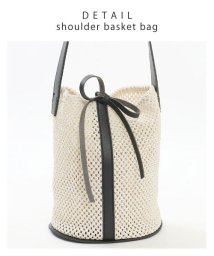 GROWINGRICH/[バッグ 鞄 雑貨 小物]インナーバッグ付きで小物整理も◎ バケツ型かごバッグ[190619]/502409731