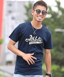 LUXSTYLE/アメカジプリント半袖Tシャツ/Tシャツ メンズ 半袖 ロゴ プリント/502410314