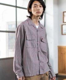 coen/【WEB限定】KANGOL(カンゴール)ブリティッシュチェックビッグシルエットオープンカラーシャツ/502410323