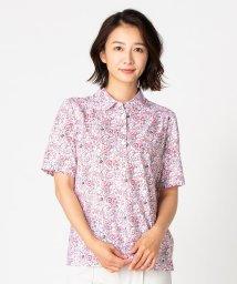 Leilian PLUS HOUSE/【特別提供品】フラワー&ペイズリープリントポロシャツ/502351260