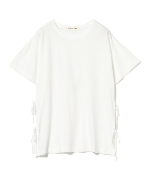 Ray BEAMS(レイビームス)/Ray BEAMS / サイド リボン クルーネック Tシャツ/63040294370