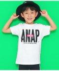 ANAP KIDS/ANAPTOKYOロゴUSAコットンTシャツ/502390280