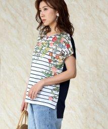 Bou Jeloud/ブライトフラワーTシャツ/502400562