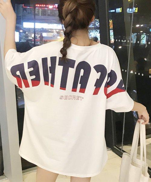 felt maglietta(フェルトマリエッタ)/オーバーサイズバックプリントTシャツ/am219